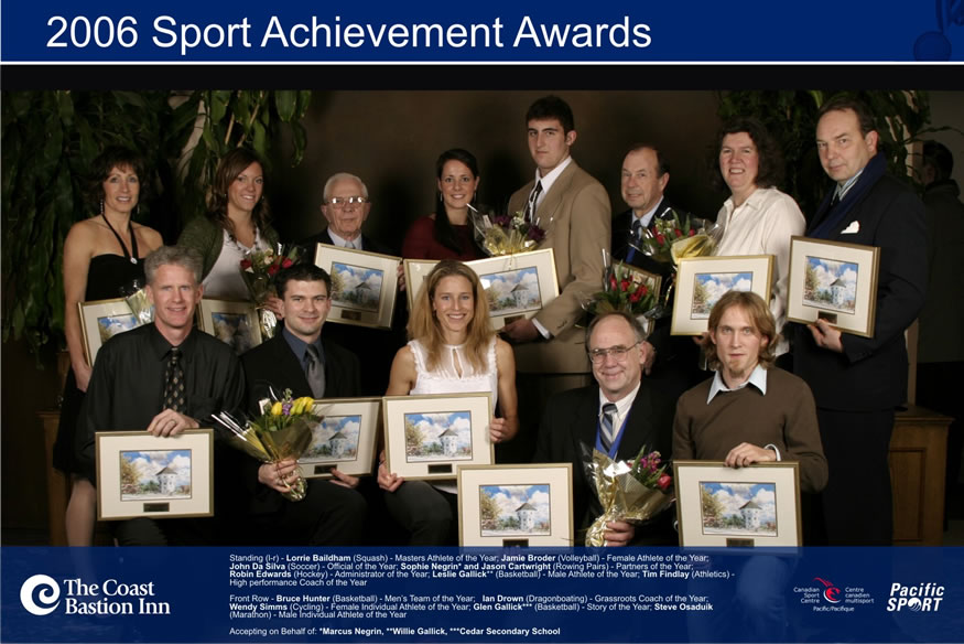 Winners of the 2006 Nanaimo Sports Achievement Awards