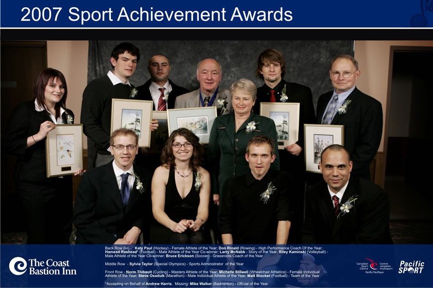 Winners of the 2007 Nanaimo Sports Achievement Awards