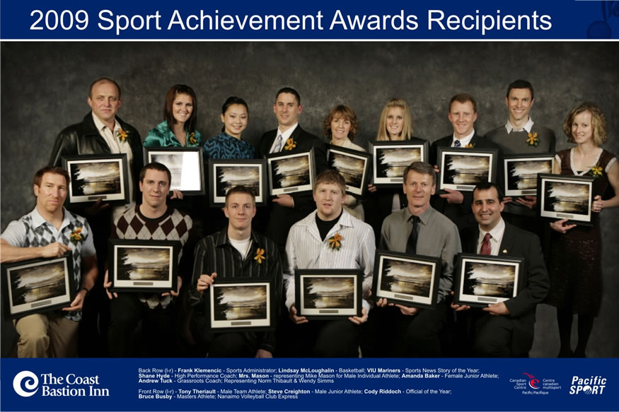 Winners of the 2009 Nanaimo Sports Achievement Awards