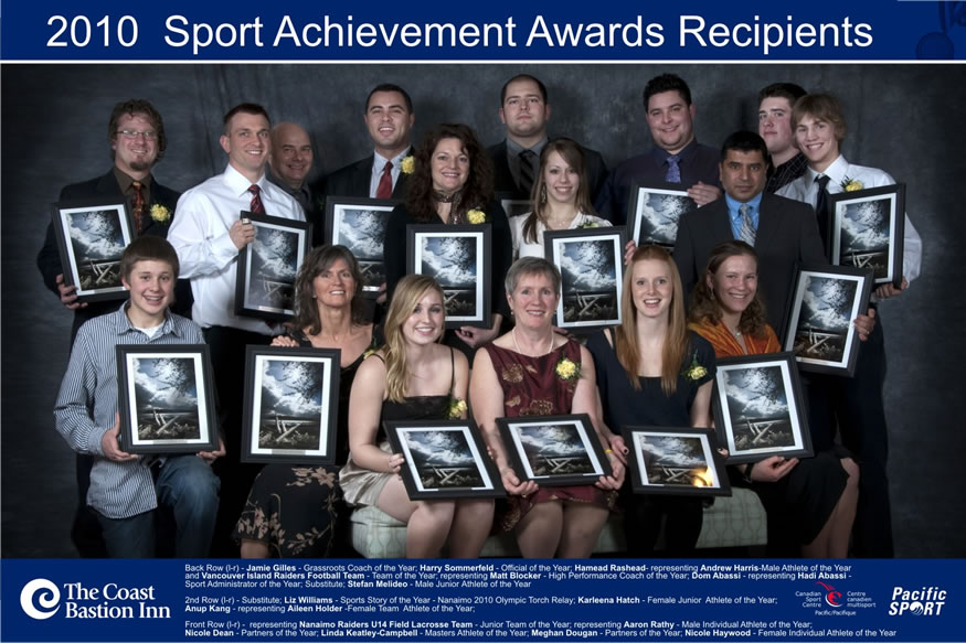Winners of the 2010 Nanaimo Sports Achievement Awards
