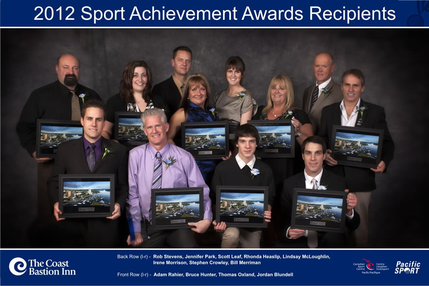Winners of the 2012 Nanaimo Sports Achievement Awards
