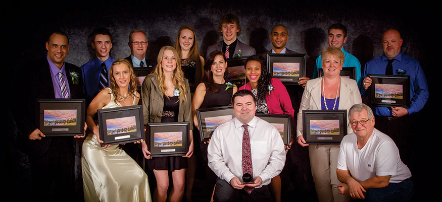 Winners of the 2013 Nanaimo Sports Achievement Awards